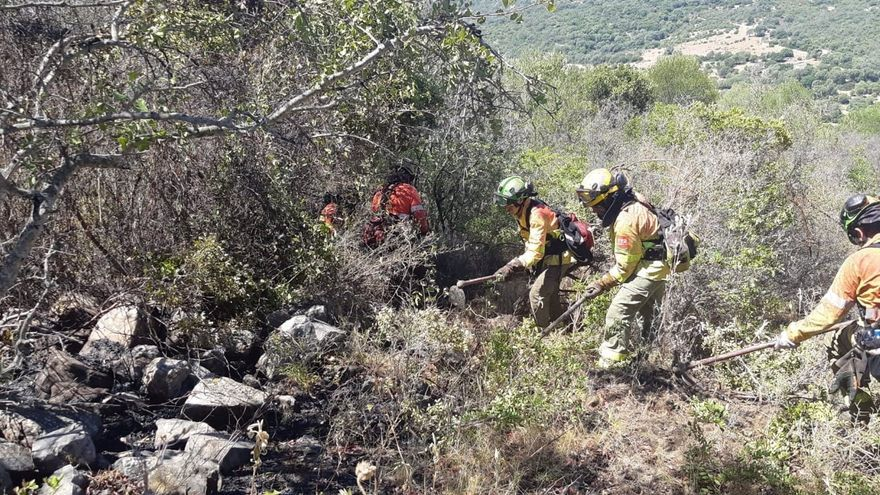 Extinguido el incendio forestal en Sayalonga