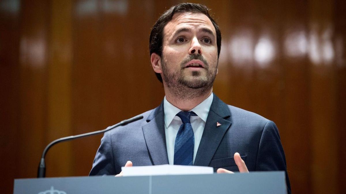 El ministro Alberto Garzón.