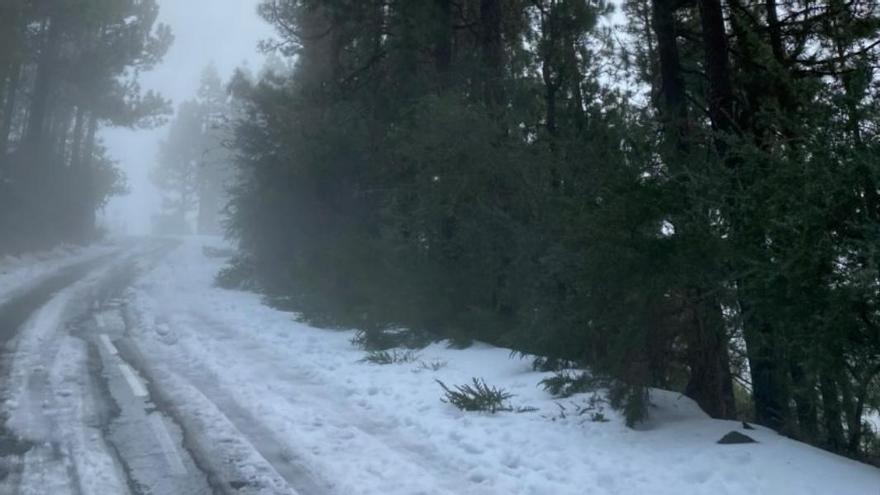 La carretera al Teide por La Esperanza, será solo de bajada
