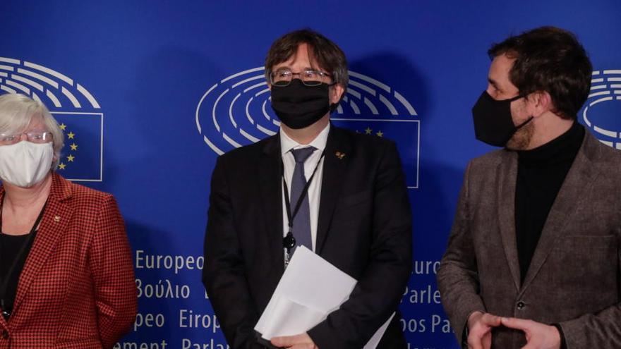 Puigdemont, Comín y Ponsatí defienden su inmunidad ante la Eurocámara
