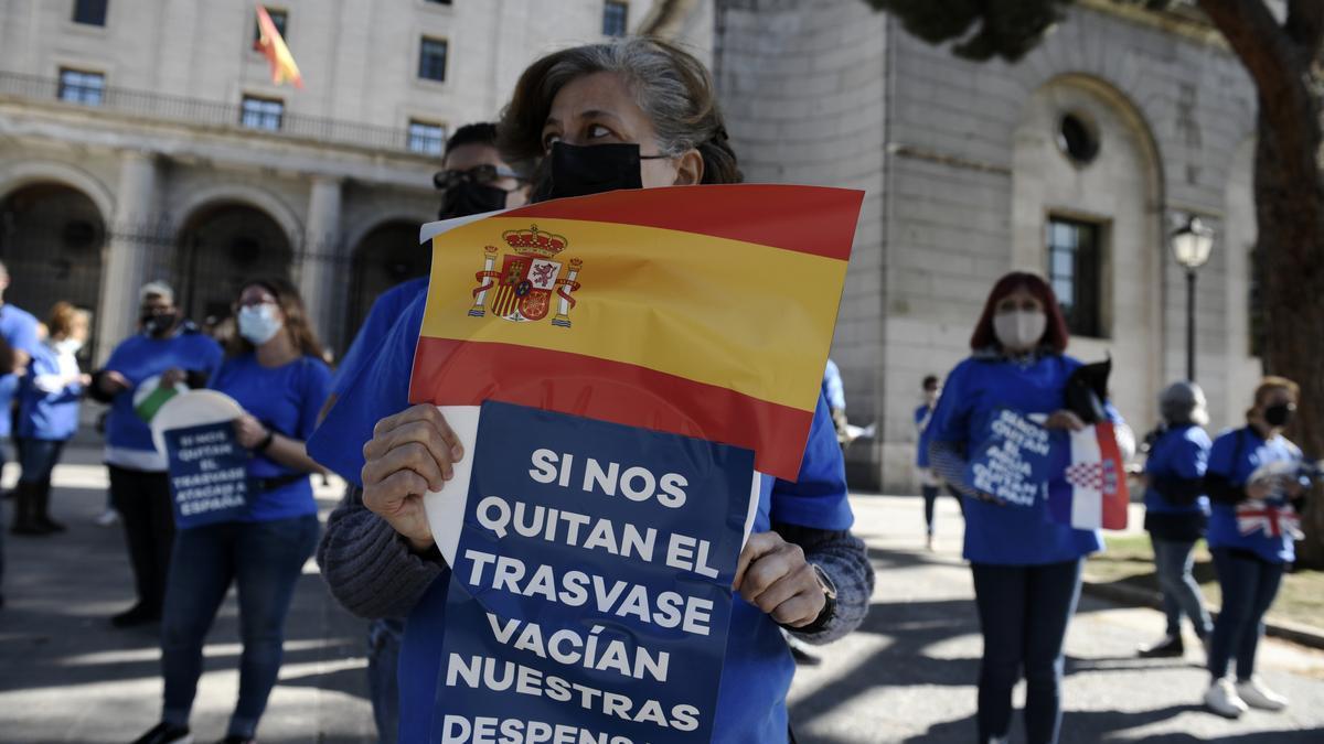 Manifestación de regantes en Madrid