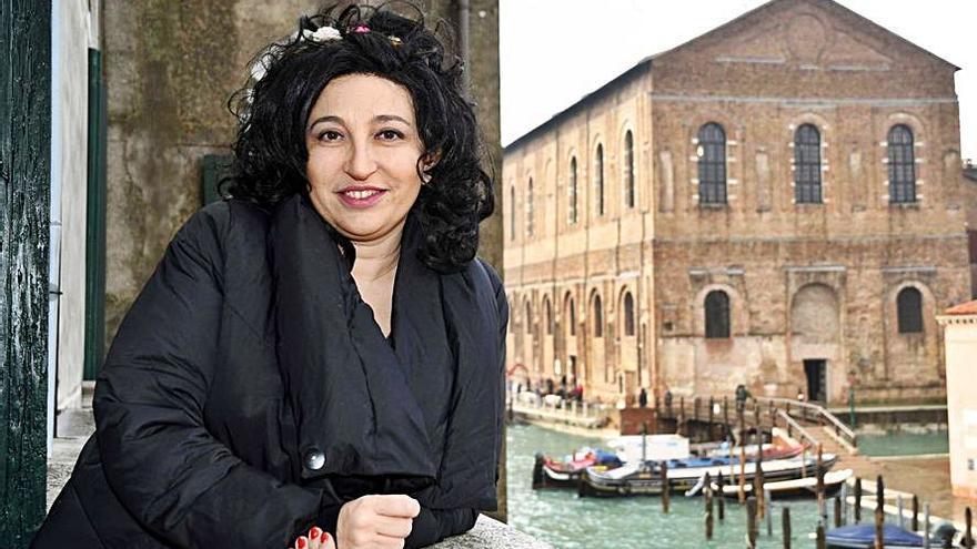 Eugenia Rico, en su palacio veneciano