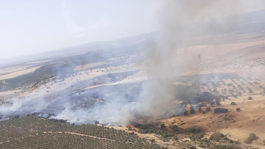 Extinguido el incendio forestal en el paraje Monte El Hecho de Guadalcázar