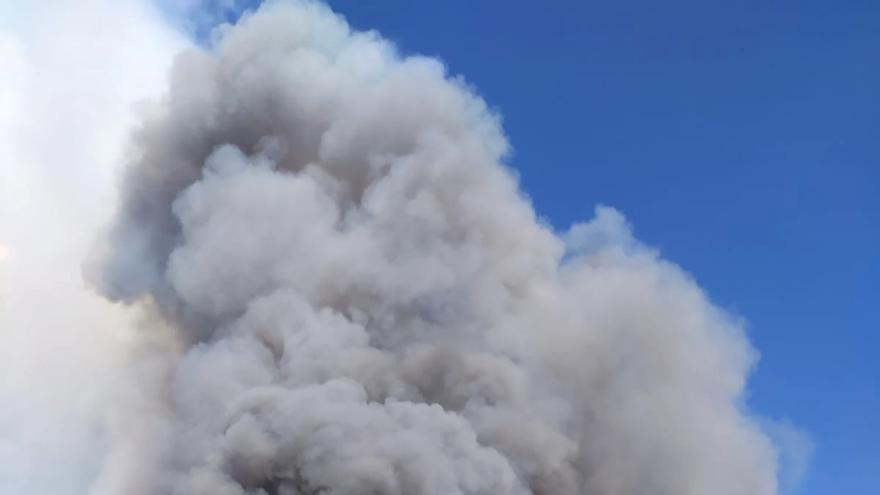 Declarado un incendio de nivel 1 en el municipio de Serradilla del Arroyo (Salamanca)