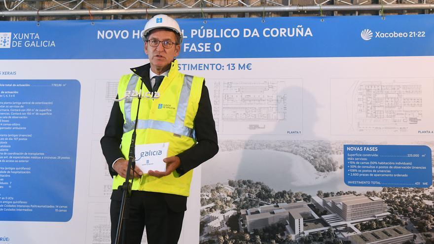 Feijóo y García Comesaña visitan las obras en el Hospital de A Coruña