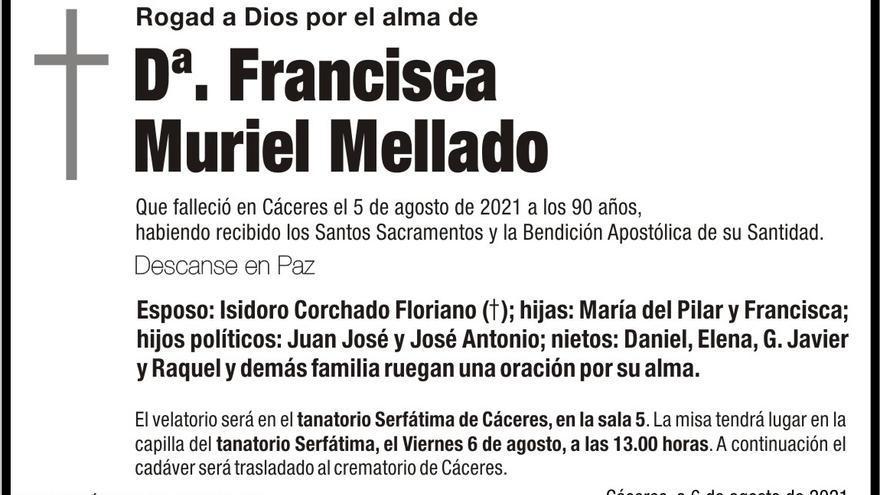Dª. Francisca Muriel Mellado