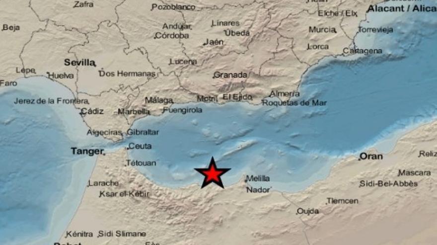 Seis terremotos, uno de ellos de 4.9 grados, se dejan sentir en Melilla, Málaga, Granada y Almería
