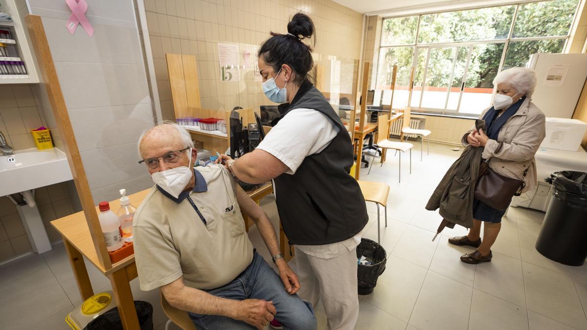 Vacunación contra la Covid-19 en Pontevedra.