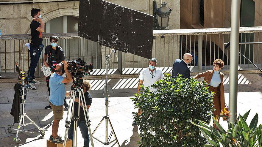 Antena 3 traslada al centro de Alicante el rodaje de «Alba»