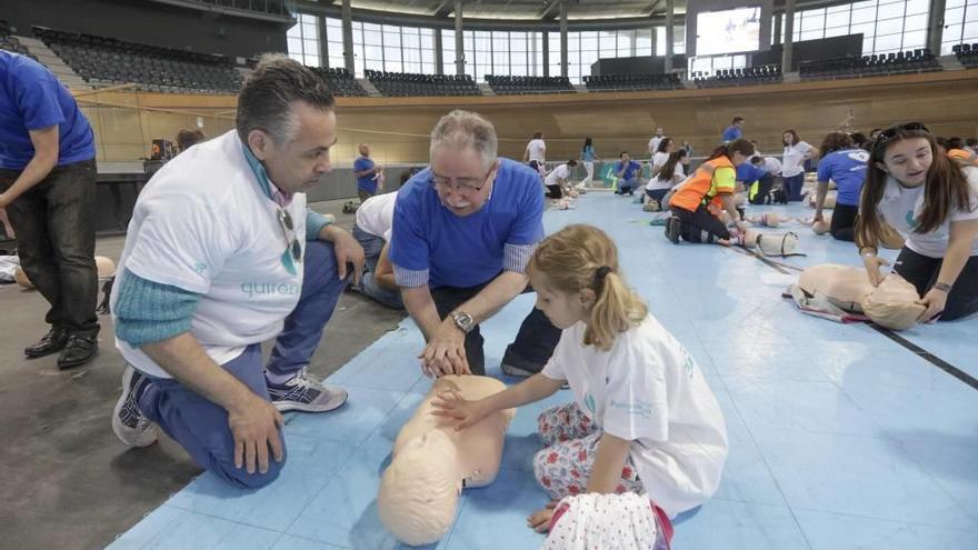 El Palma Arena celebra el récord de reanimación cardiopulmonar