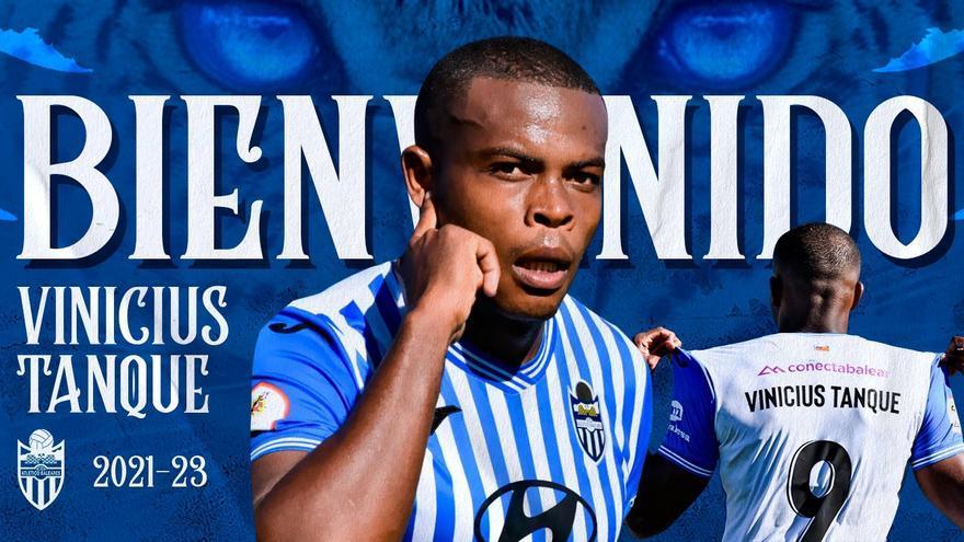 El Atlético Baleares oficializa la llegada de Vinicius Tanque