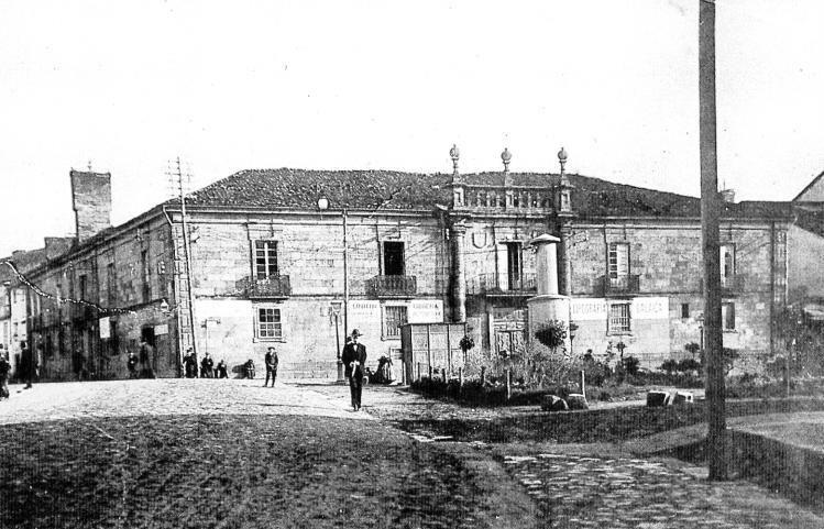 Imaxe do desaparecido Pazo da Inquisición (Santiago de Compostela).