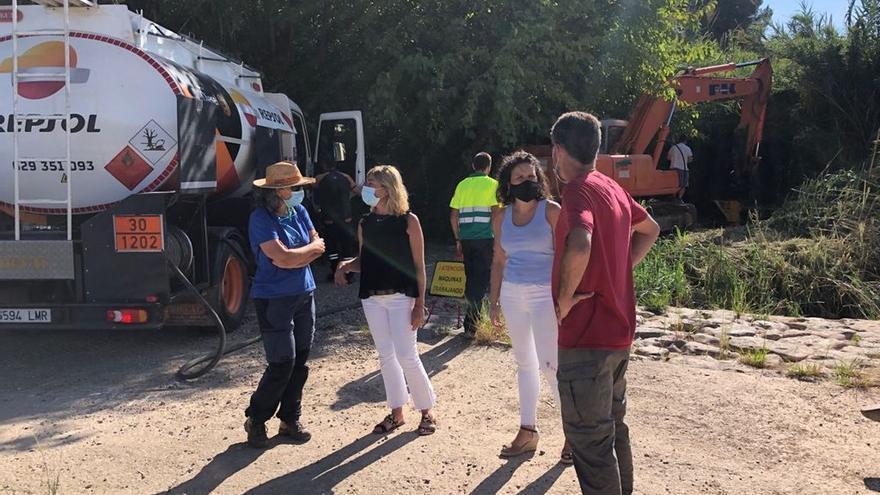 La CHJ retira 6.700 metros cuadrados de cañas del río Millars tras la reivindicación de Almassora