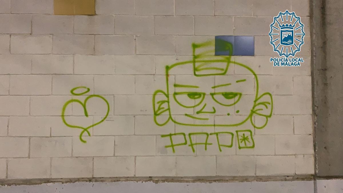 Uno de los grafitis atribuidos a las jóvenes