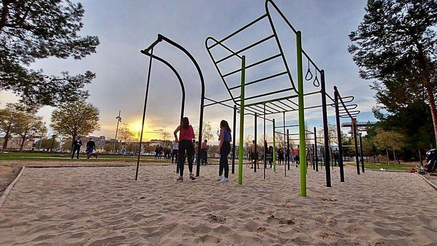 El barri de Fàtima estrena un espai per a la realització d'activitat física a Igualada