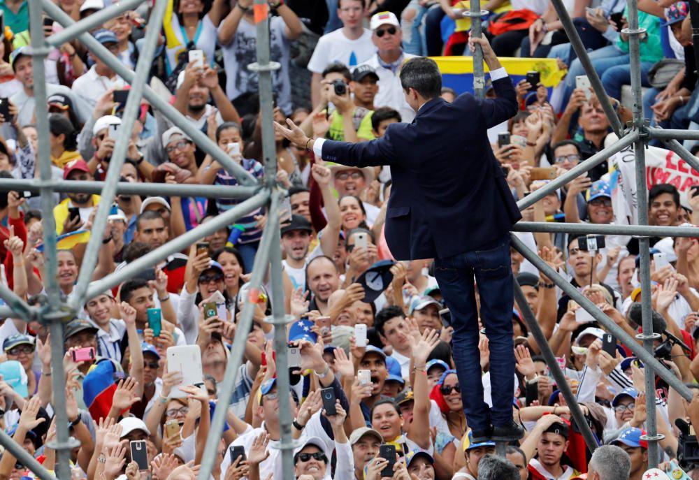 Venezuelan opposition leader Juan Guaido arrives ...