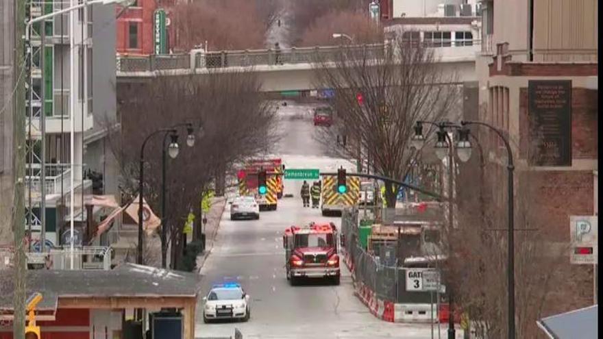 La explosión de Nashville vino de un vehículo que avisaba de una bomba