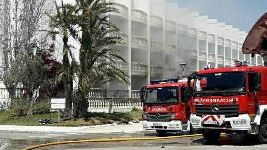 Ein Verletzter bei Brand in einem Hotel an der Playa de Muro