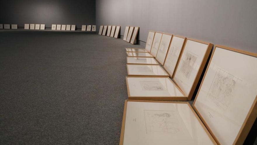 Preparativos de la exposición de Picasso en Avilés