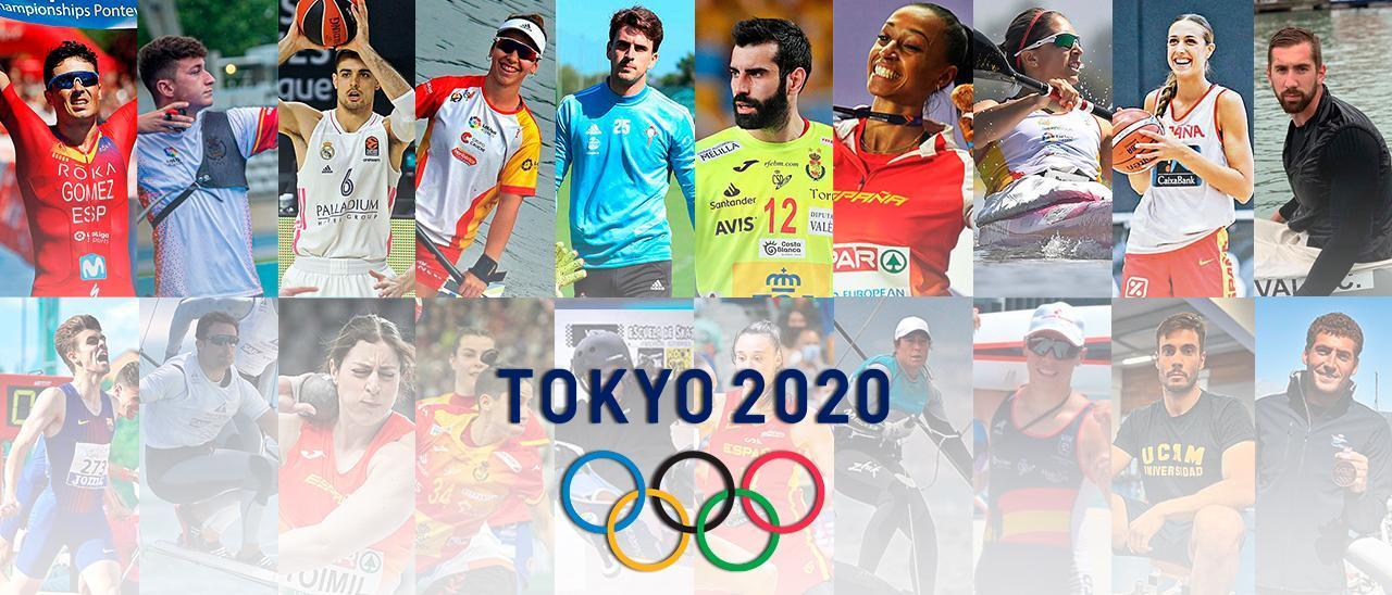 La veintena de deportistas gallegos participantes en los Juegos Olímpicos de Tokio