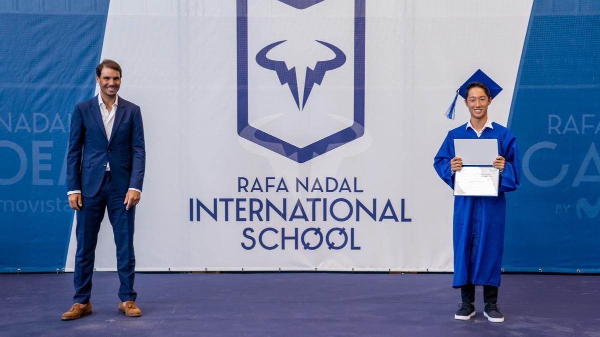 Rafa Nadal durante el acto de graduación del pasado mes de junio
