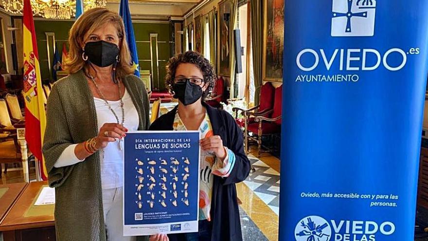 Oviedo, con el lenguaje de signos
