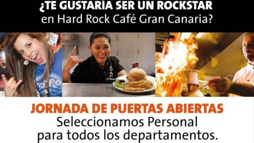 Hard Rock Café Gran Canaria busca personal