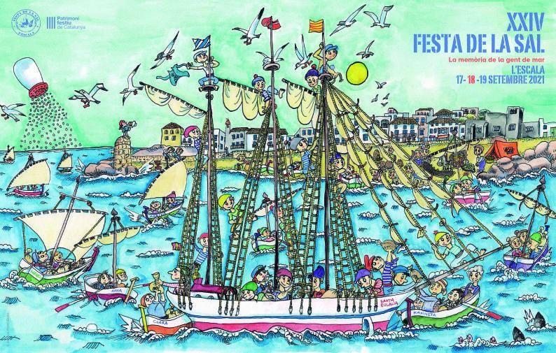 L'art de la ninotaire Pilarín Bayés immortalitza la Festa de la Sal en un conte il·lustrat