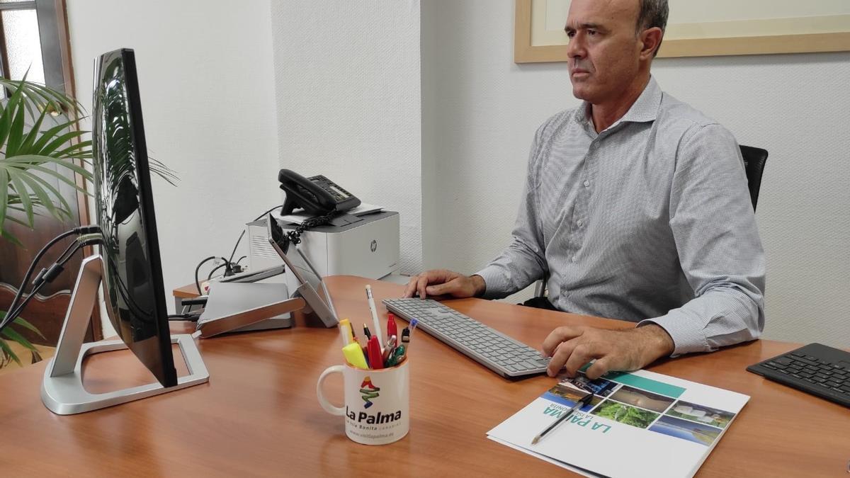 El consejero de Turismo del Cabildo de La Palma, Raúl Camacho.