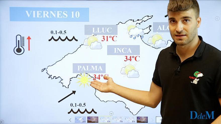 El tiempo del fin de semana en Mallorca: calor y bochorno