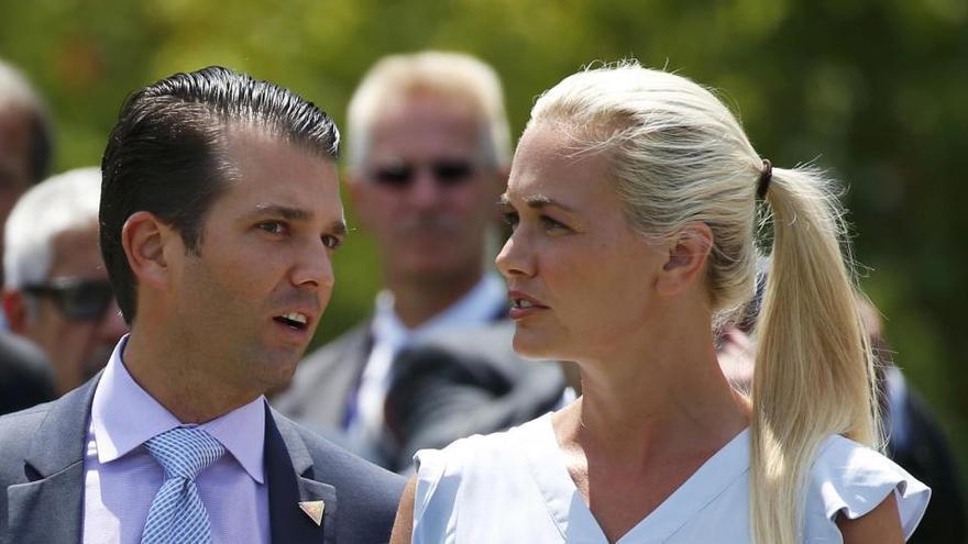 Donald Trump Jr y su mujer en una imagen de archivo.