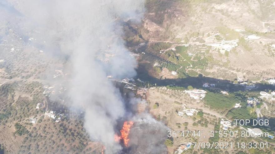 Estabilizado el incendio forestal declarado en Frigiliana