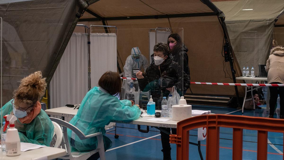 Pruebas de cribado de coronavirus en la Ciudad Deportiva