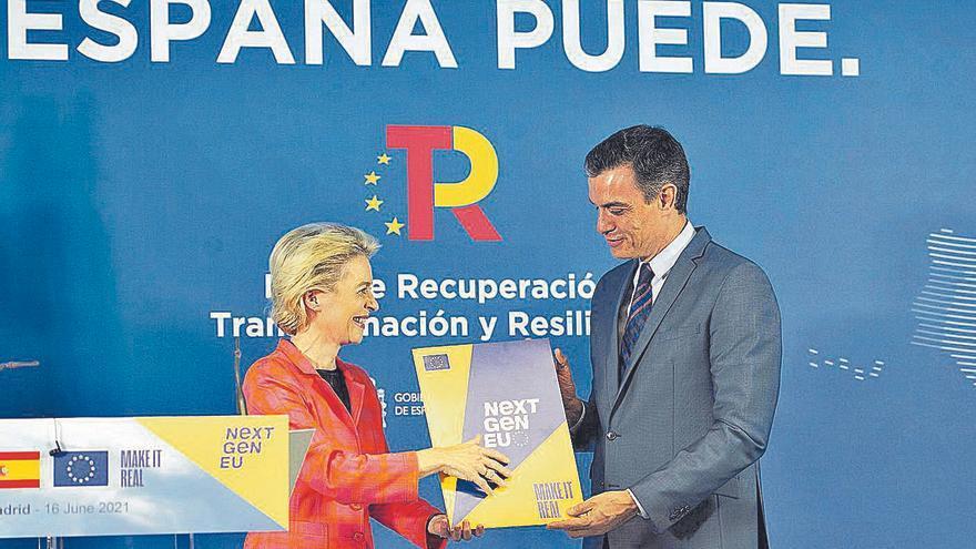"""Luz verde de Bruselas al """"ambicioso"""" plan español para los nuevos fondos europeos"""