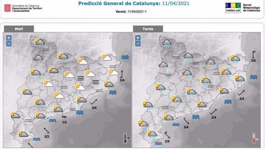 Protecció Civil activa el pla Inuncat davant la previsió de tempesta a Catalunya