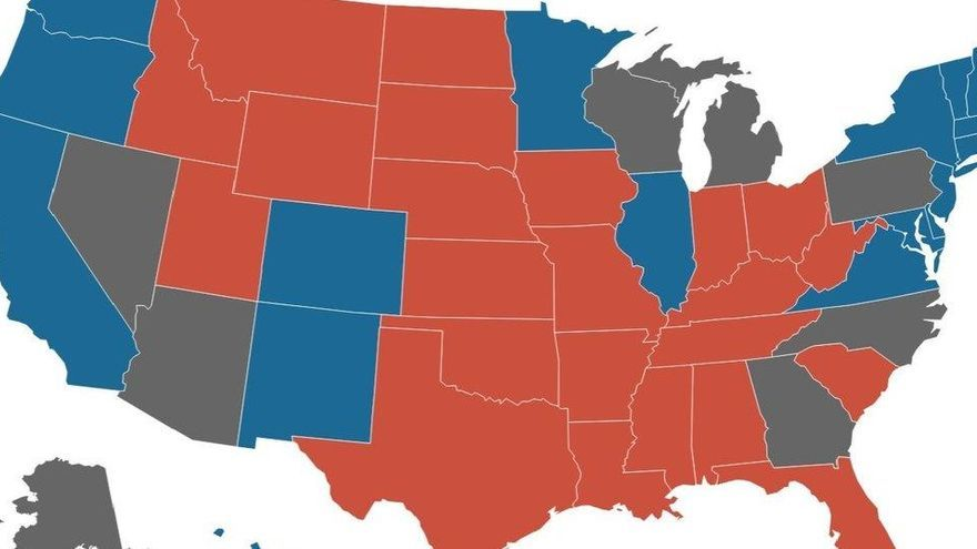 El recuento electoral deja una noche de vértigo en EEUU