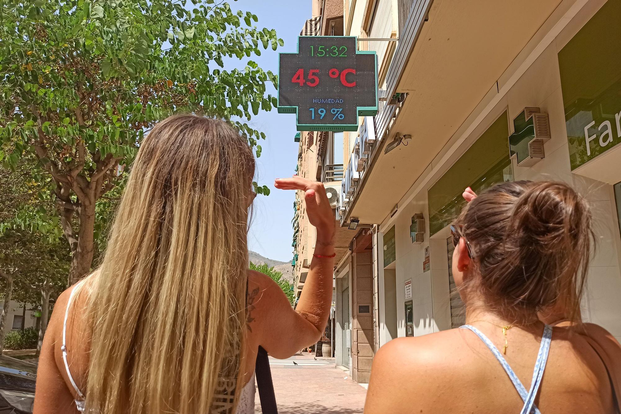 Alerta roja por calor: 45 grados en el sur de la provincia