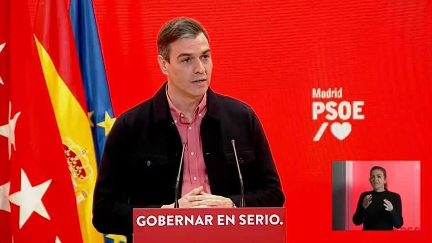 """Sánchez insta a """"parar al Gobierno de la Plaza de Colón"""" en las elecciones madrileñas"""