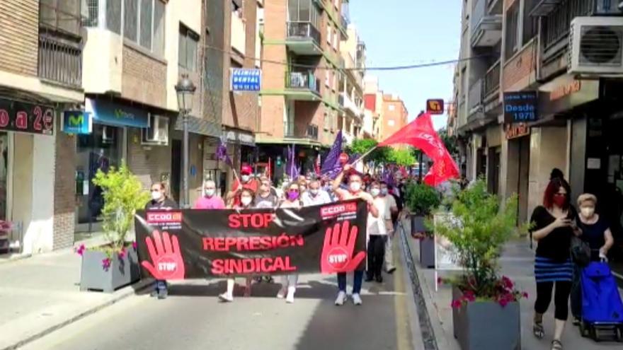 Manifestación de CCOO en Paterna