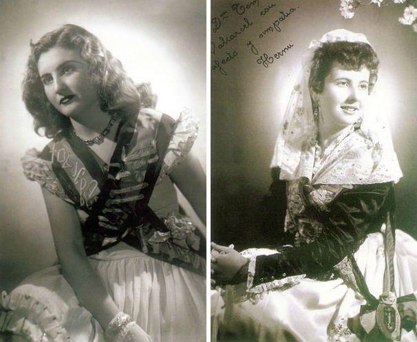 Maruja Guillén García y Herminia Guillén García fueron Belleas del Foc en 1949 y 1954, respectivamente, en representación de distintos distritos.