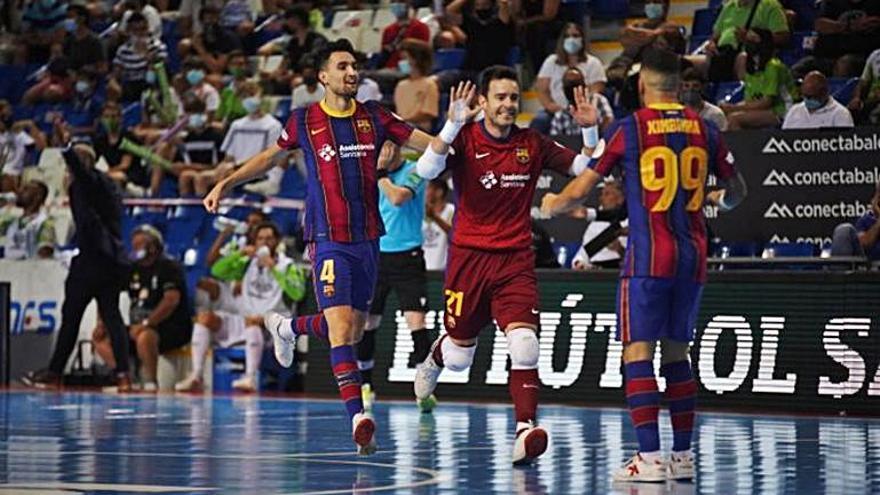 Victòria del Barça de futbol sala (2-3)