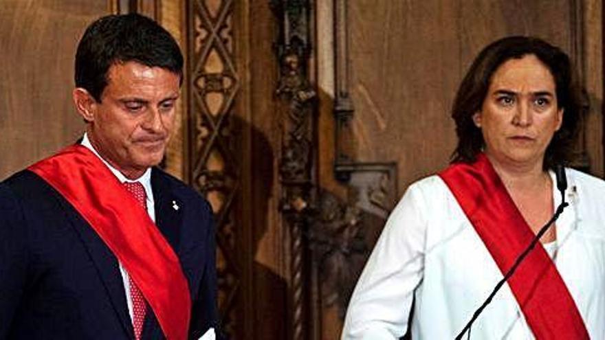 Ciutadans trenca amb Valls a Barcelona pel seu suport a Ada Colau