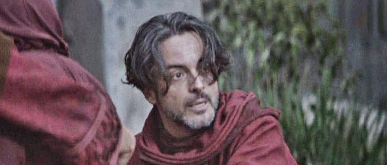 El actor Bernard Bullen, durante el rodaje de 'The Mandalorian'.