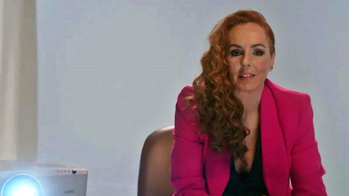 Rocío Carrasco,  durante su intervención en la docuserie.