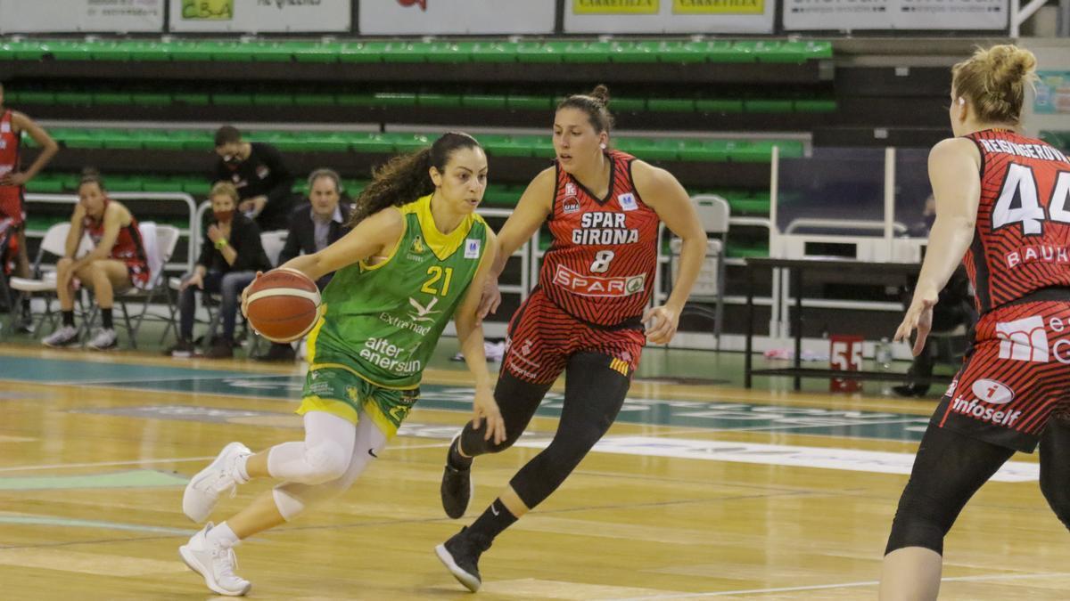 María Araújo, en un partit  de la Lliga Femenina Endesa