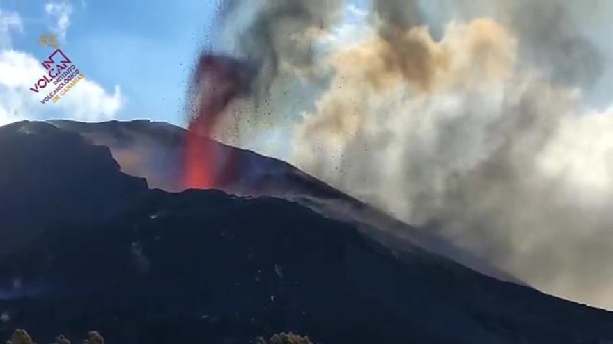 Actividad del volcán de La Palma este martes, 26 de octubre
