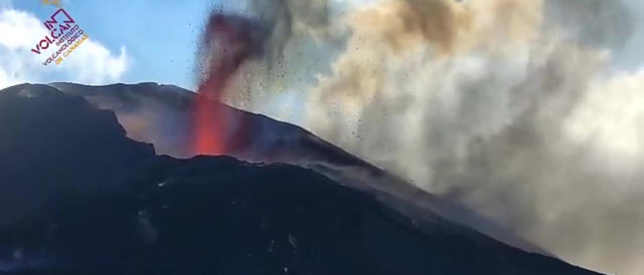 """El dióxido de azufre demuestra que el fin de la erupción del volcán de La Palma aún """"está lejos"""""""