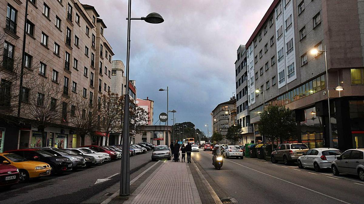 Los hechos se produjeron en el entorno de la avenida da Estación. |   // G. SANTOS