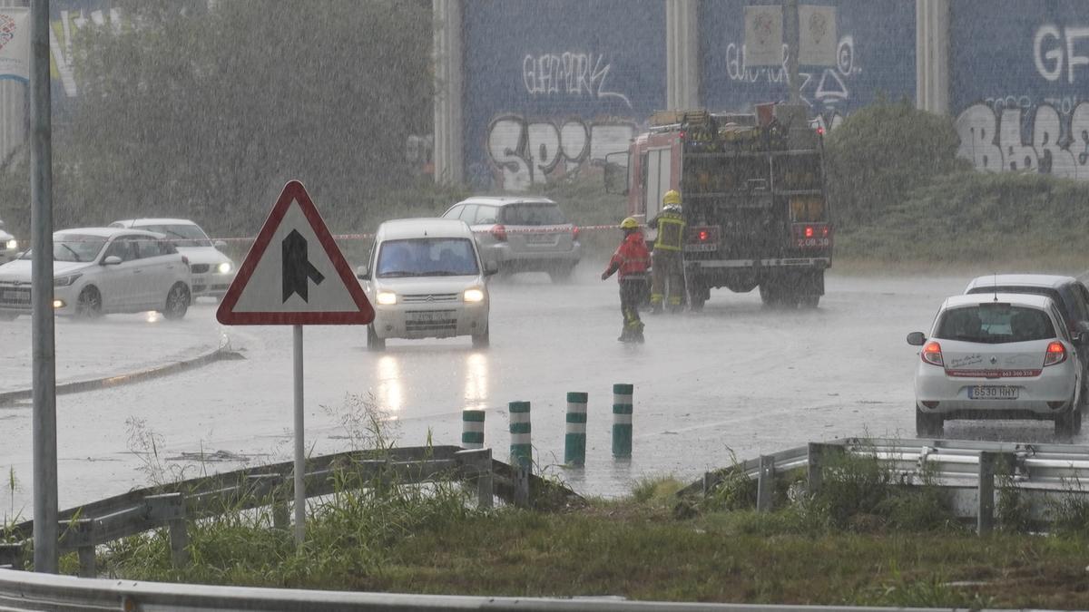 Afectacions del darrer episodi de pluges a la ciutat de Girona.