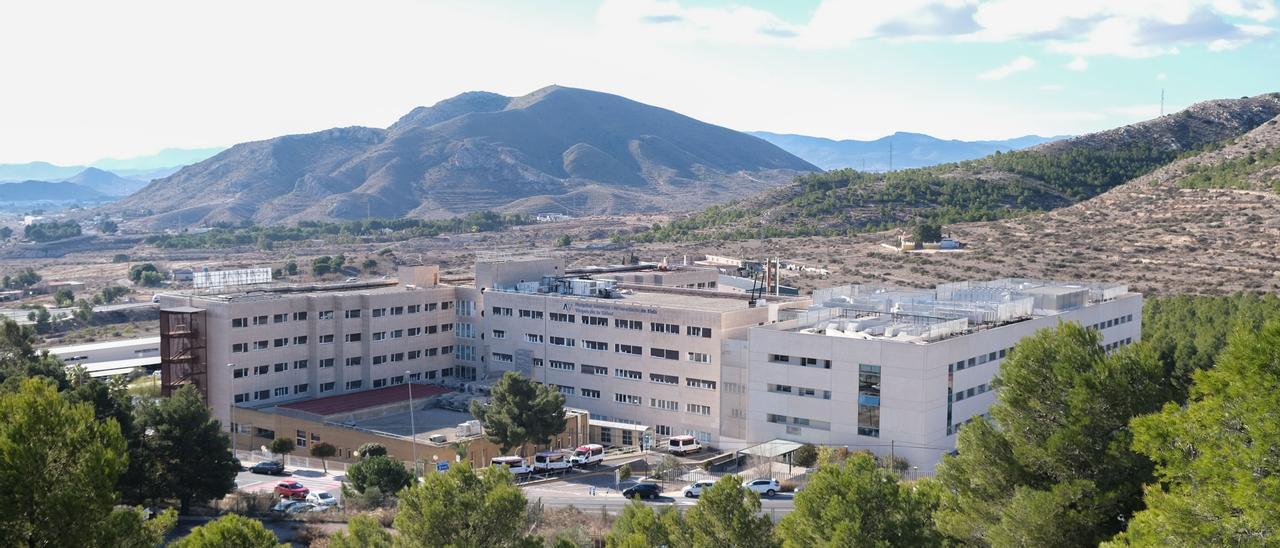 Vista aérea del Hospital General Universitario de Elda.